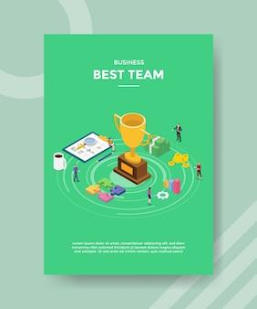 Beste gewinner-team-flyer-vorlage