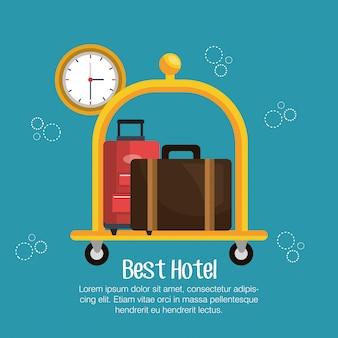 Beste hotelservice-symbole