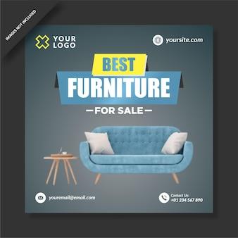Beste möbel zum verkauf instagram vorlage Premium Vektoren