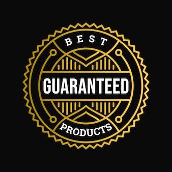 Beste produkte garantiertes abzeichen