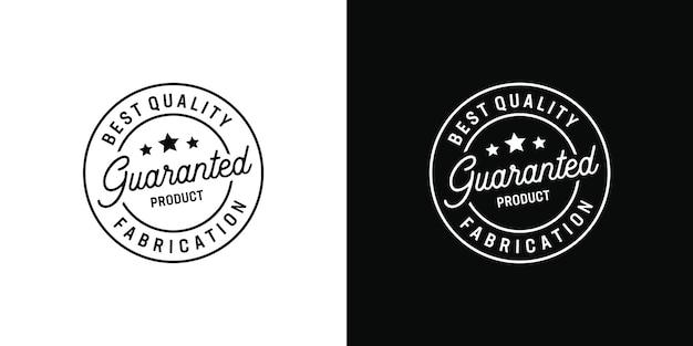 Beste qualität garantierte produktherstellung vintage retro-hipster-logo-elemente