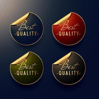 Beste qualität goldene aufkleber mit curl seite