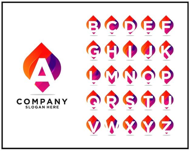 Beste sammlung von logovorlagen für buchstaben a bis z premium-vektoren