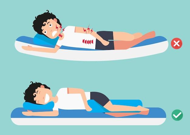 Beste und schlechteste positionen zum schlafen