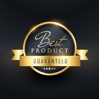 Beste wahl garantieren etikettendesign