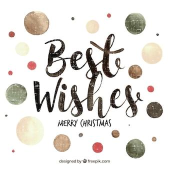 Beste wünsche für frohe weihnachten in schriftzug