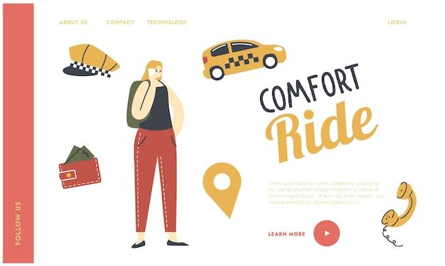 Bestellung für cabbie driver service landing page template