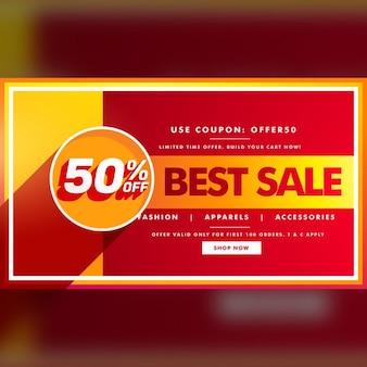 Besten verkauf banner und verkauf gutschein design für markenwerbung