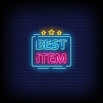 Bester artikel neon style text mit sternen