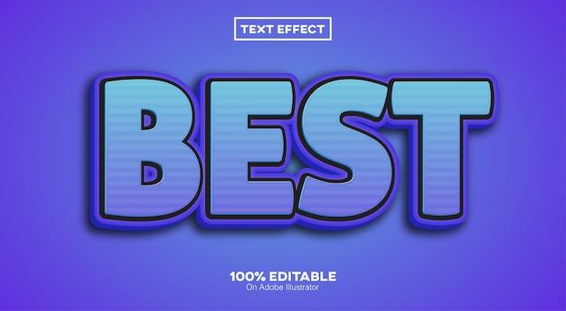 Bester bearbeitbarer 3d-texteffekt