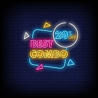 Bester combo neon signs style text