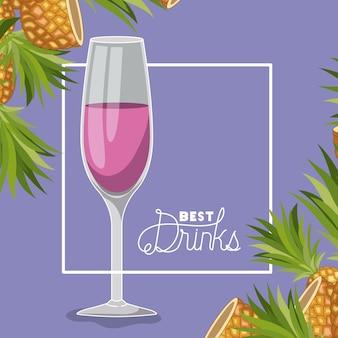 Bester drink frischer cocktail
