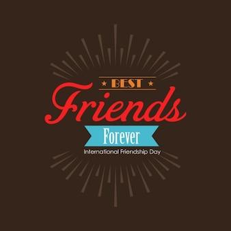 Bester freund für immer international friendship day hintergrund