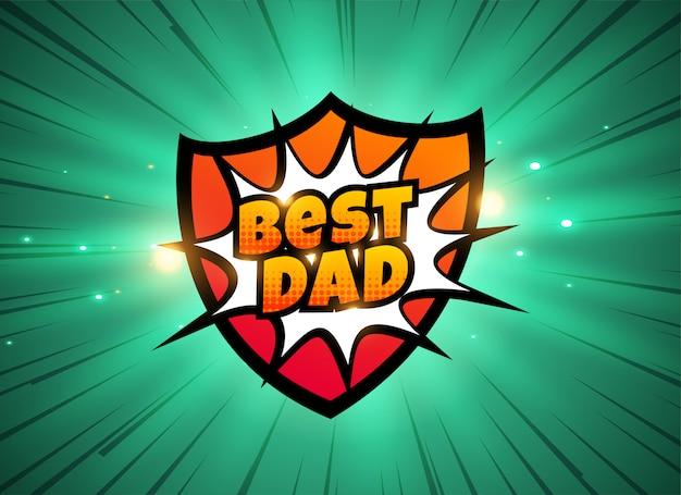 Bester papa comic-stil hintergrund