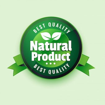 Bester qaulity naturprodukt label stocker