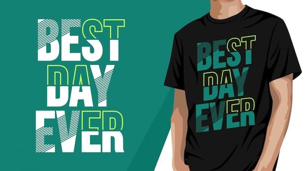Bester tag aller art typografie t-shirt design
