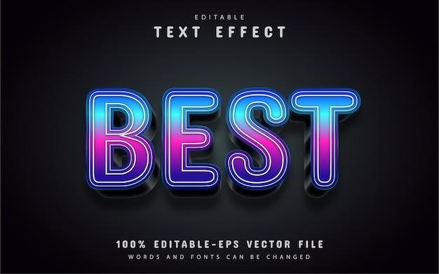 Bester text, texteffekte im 3d-farbverlaufsstil