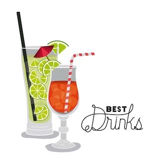 Bester tropischer cocktail der getränke