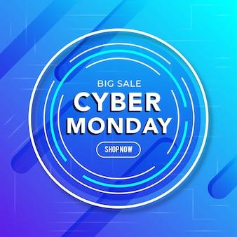 Bester verkauf cyber monday banner
