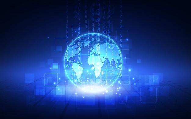Bestes internet-konzept des globalen geschäfts. leuchtende linien auf technologischen hintergrund.
