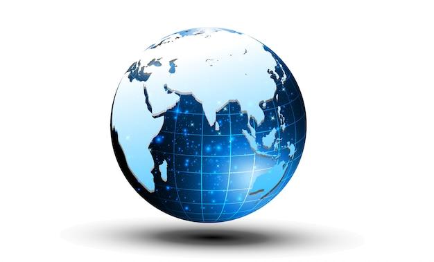 Bestes internet-konzept des globalen geschäfts von der konzeptserie.