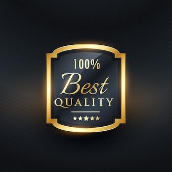 Bestes qualitätslabel in goldenem premium-design