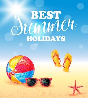 Bestes sommerferienplakat