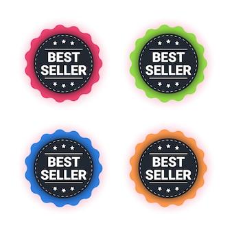 Bestseller etikett design illustration