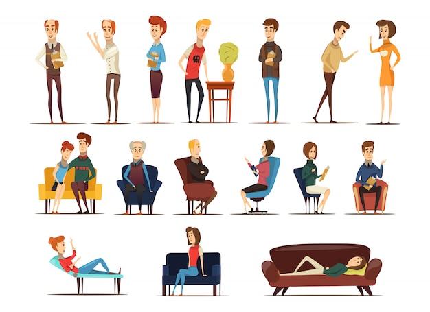 Besuch beim psychologen-set