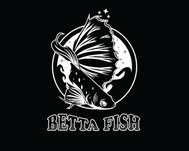 Betta fisch-logo-design-vektor-illustration
