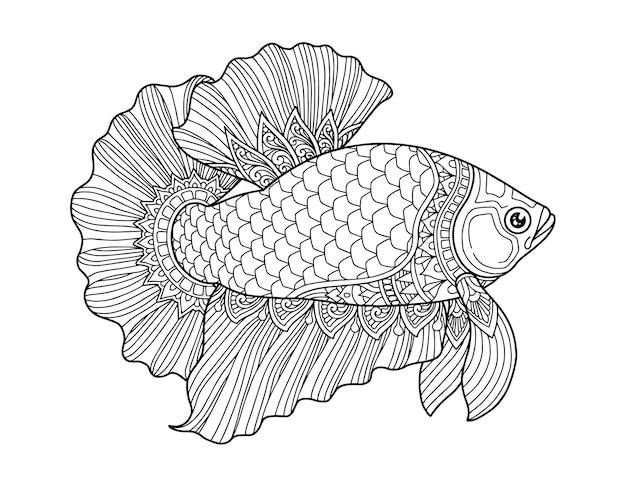 Betta fisch malvorlagen design klaren hintergrund