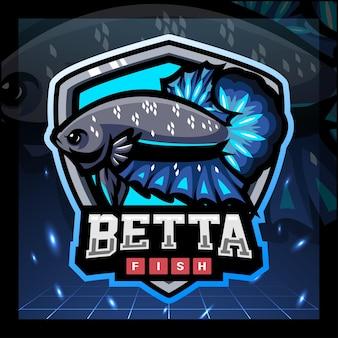 Betta fisch maskottchen esport logo-design