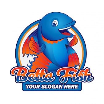 Betta fisch maskottchen logo