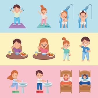 Bettroutine zwölf kinder