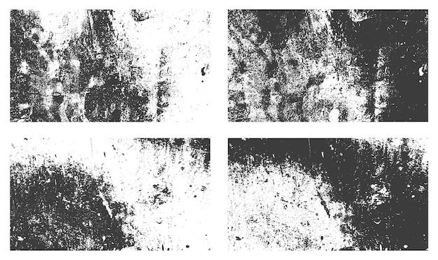 Beunruhigter grunge-textur-hintergrund-set-vektor