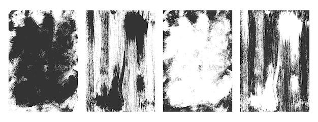 Beunruhigtes klassisches grunge-textur-set-design
