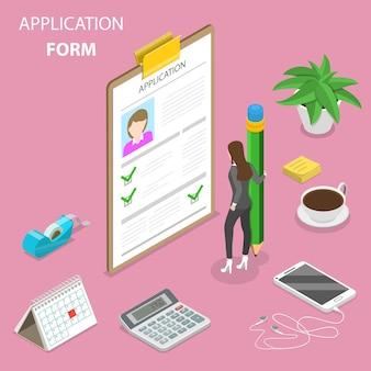 Bewerbungsformular, online-umfrage, fragebogen
