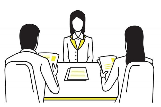 Bewerbungsgesprächskonzept