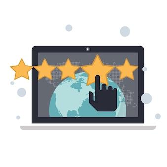 Bewertung auf kundenservice-abbildung