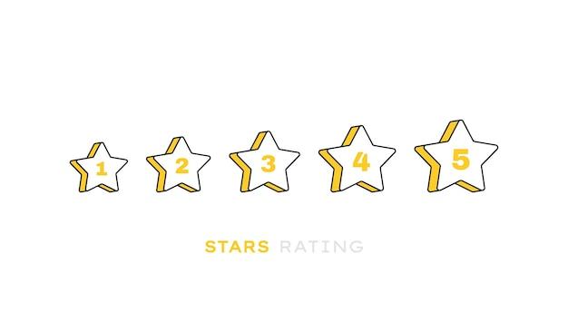 Bewertung der produktbewertung von kunden mit fünf sternen. moderner flacher stil