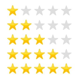 Bewertung in sternen. stimmen sie wie ein ranking ab.