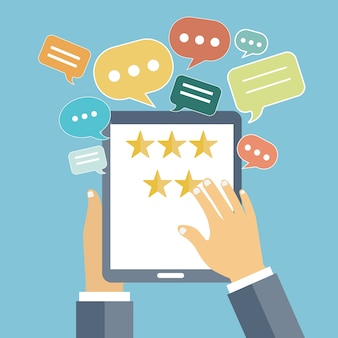 Bewertung und bewertung von website-bewertungen