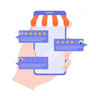 Bewertungskonzept für kundenbewertungen.