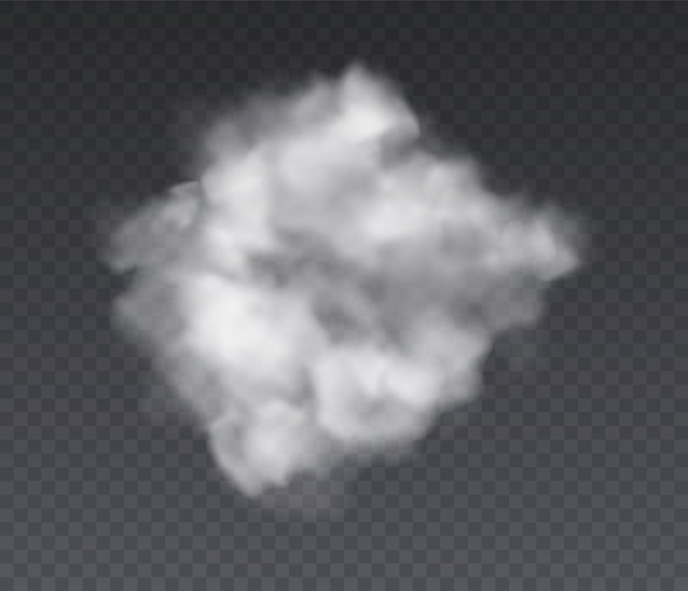 Bewölkter effekt. chemie stehender nebel und weißer rauch