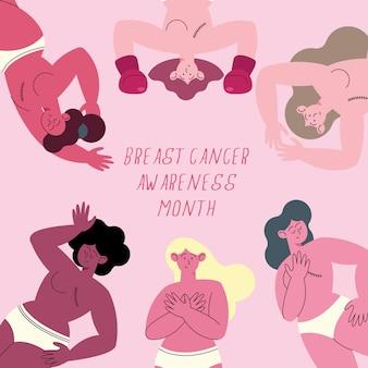 Bewusstsein für brustkrebs