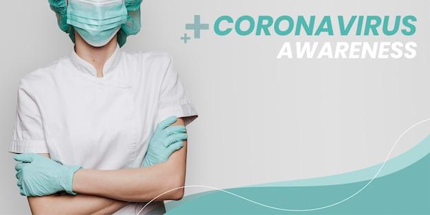 Bewusstsein für das coronavirus zur unterstützung von medizinern