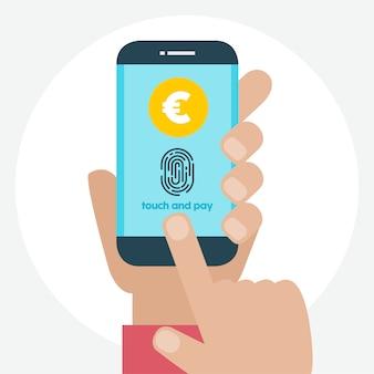 Bezahlen per fingerabdruck design