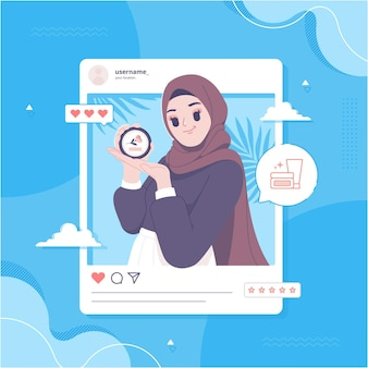 Bezahlt fördern social-media-konzept