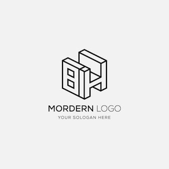 Bh logo design vorlage
