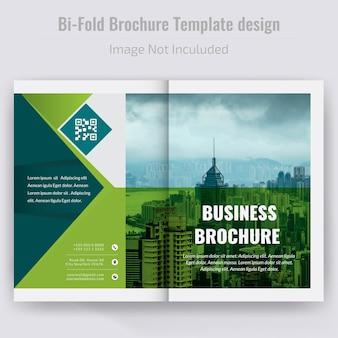 Bi fold broschüre design